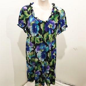 Tiana B Size 3X Floral Midi Dress Plus Size Casual